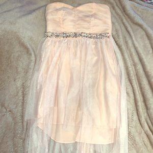 Light prink formal dress